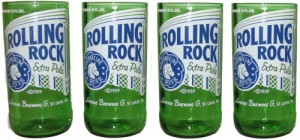 Rolling Rock Tumblers from The Green Glass Company